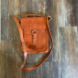 Other - Genuine raw leather messenger bag
